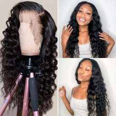360 Lace Frontal Wig Brazilian Loose Deep Wave Lace Front Human Hair Wigs For Black Women