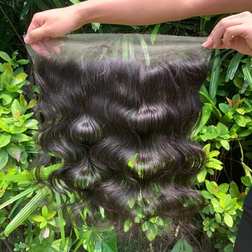 HD Lace Frontal Body Wave 13x4 Lace Frontal Peruvian Human Hair Pre Plucked Hd Swiss Lace