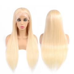 613 Blonde Lace Front Lace Wigs Brazilian Straight Lace Front Human Hair Wigs 180% Density Hand Made Blonde 13x6 Lace Frontal Wig