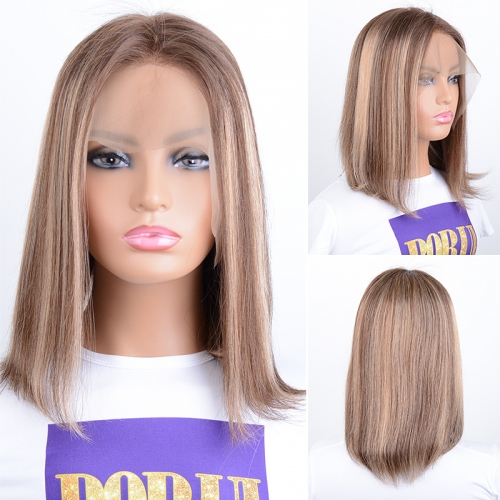 Short Bob Wigs Lace Front Human Hair Wigs 13x4 Brazilian Ombre Bob Wigsre Color Lace Front Human Hair Wigs