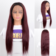 BORUI Hair Straight 360  Human Hair Wigs For Black Women 99J Brazilian Remy Hair Wigs Pre Plucked