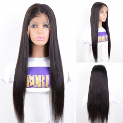 Brazilian Straight Hair 13x6 Lace Frontal Wig 180% density with Bleached Knots Lace Front Human Hair Wigs