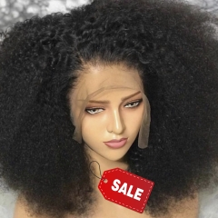 Afro Kinky Curly Wig 13x4 Lace Front Human Hair Wig High Ratio For Black Women