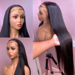 UNDETECTABLE INVISIBLE HD LACE BEST HUMAN HAIR FRONTAL LACE WIG 200% DENSITY